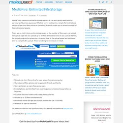 MediaFire: Unlimited File Storage