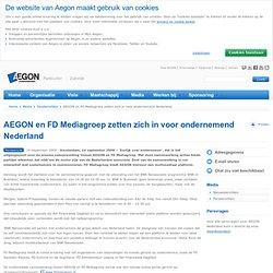 AEGON: en FD Mediagroep zetten zich in voor ondernemend Nederland