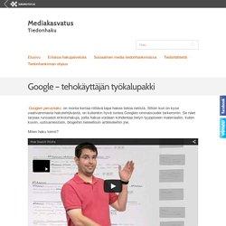 Google – tehokäyttäjän työkalupakki