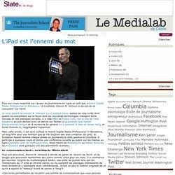 Le Medialab de Cécile » L'iPad est l'ennemi du mot
