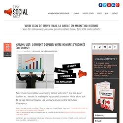 Easy Social MediaMailing list: comment doubler votre nombre d'abonnés (au moins!)