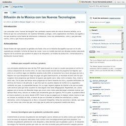 mediamatica / Difusión de la Música con las Nuevas Tecnologías