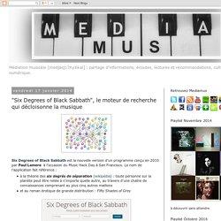 """Mediamus: """"Six Degrees of Black Sabbath"""", le moteur de recherche qui décloisonne la musique"""