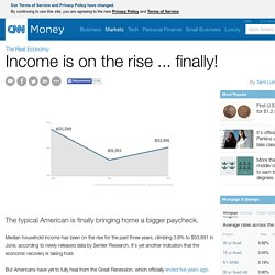 Median income is on the rise ... finally! - Aug. 20, 2014