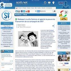 Mediapart crucifie Sarkozy et apporte la preuve du financement de sa campagne de 2007