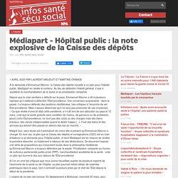 Médiapart - Hôpital public: la note explosive de la Caisse des dépôts