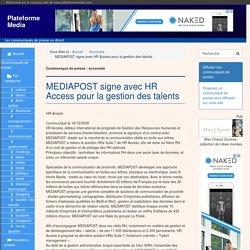 MEDIAPOST signe avec HR Access pour la gestion des talents - Plateforme Media