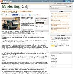 Publications Subaru Of America CMO Talks Brand Success 09/20