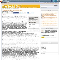 Publications 9 Reasons to Quit Social Media Now 08/08