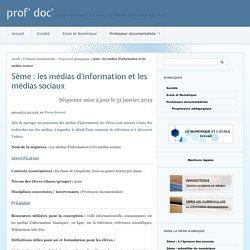 5ème : les médias d'information et les médias sociaux