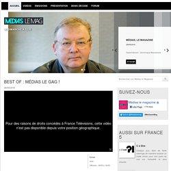 Médias le Magazine : tout sur l'émission, news et vidéos en replay