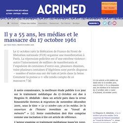 Il y a 55 ans, les médias et le massacre du 17 octobre 1961
