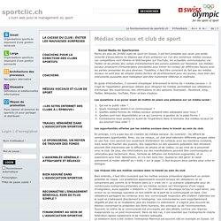 Médias sociaux et club de sport