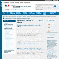 Les médias sociaux et l'école — Documentation (CDI)