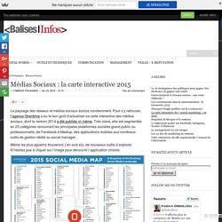 Médias Sociaux : la carte interactive 2015