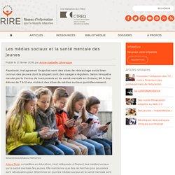 Les médias sociaux et la santé mentale des jeunes