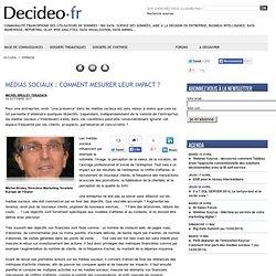 Médias Sociaux : comment mesurer leur impact ?