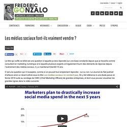 Les médias sociaux font-ils vraiment vendre ?