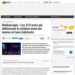 Mediascopie : Les 213 mots qui définissent la relation entre les maires et leurs habitants