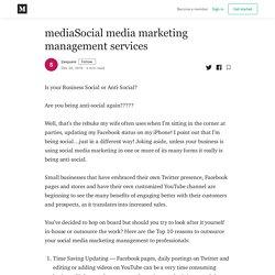 Social media marketing management services