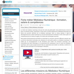 Fiche métier Médiateur Numérique : formation, salaire & compétences