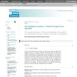 Les médiateurs sociaux: limites et enjeux d'un dispositif