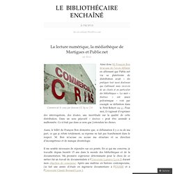 La lecture numérique, la médiathèque de Martigues et Publie.net