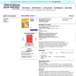 (Livre) Médiathèque de Bron - Nouveautés adultes - Dix animations lecture en bibliothèque jeunesse