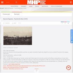 Baie de Papeete en 1885 [photographie]