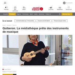 Quiberon. La médiathèque prête des instruments de musique