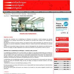Charte documentaire - Médiathèque municipale de Mérignac (33)