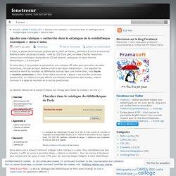 """E-sidoc : ajouter une rubrique """"recherche dans le catalogue de la médiathèque municipale"""""""