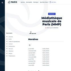 Médiathèque musicale de Paris (MMP) - Ville de Paris