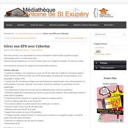 Gérer son EPN avec Cyberlux | Médiathèque Antoine de St Exupéry-Mozilla Firefox