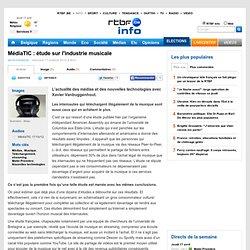 MédiaTIC : étude sur l'industrie musicale - RTBF Matin premiere