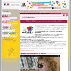 Médiatiks - Concours de médias scolaires et lycéens - Concours
