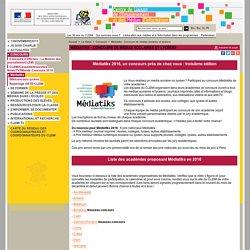 CONCOURS MEDIA SCOLAIRE- Médiatiks (CLEMI)
