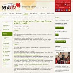 Manuels et articles sur la médiation numérique en bibliothèque publique