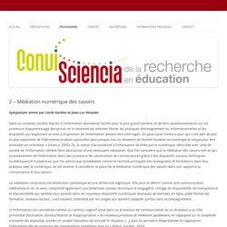 Médiation numérique des savoirs