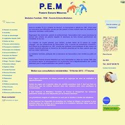 Médiation Familiale - PEM - Parents-Enfants-Médiation