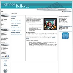 Mediation - Introduction (Official City of Bellevue Website)