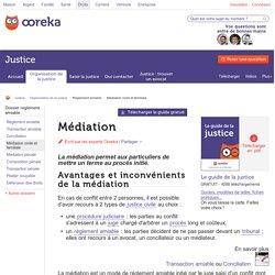 Médiation : règlement d'un conflit par un médiateur