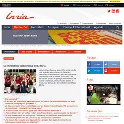 La médiation scientifique chez Inria