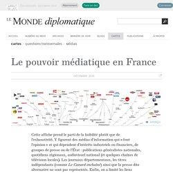 Le pouvoir médiatique en France, une affiche (Le Monde diplomatique, décembre 2016)