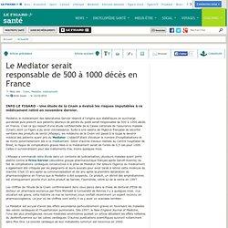 Le Figaro - Santé : Le Mediator serait responsable de 500 à 1000 décès en France