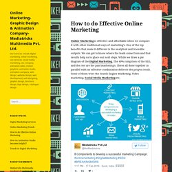 How to do Effective Online Marketing – Online Marketing- Graphic Design & Animation Company- Mediatricks Multimedia Pvt. Ltd.