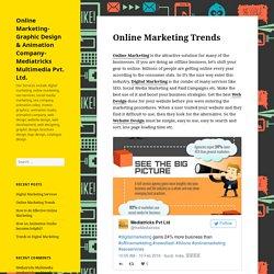 Online Marketing Trends – Online Marketing- Graphic Design & Animation Company- Mediatricks Multimedia Pvt. Ltd.