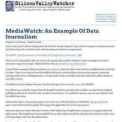 MediaWatch: An Example Of Data Journalism