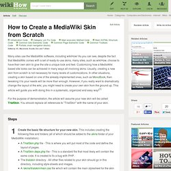 8 Ways to Create a MediaWiki Skin from Scratch
