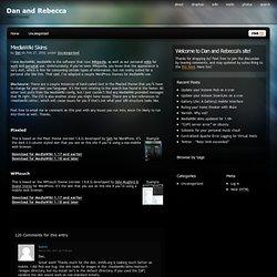 MediaWiki Skins - Dan and Rebecca